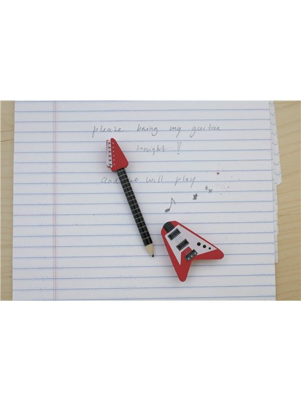 Guitar Pencil & Eraser